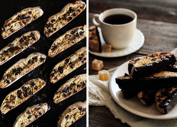 Biscotti are a unique type of cookie, and this version calls for both chocolate and ginger.