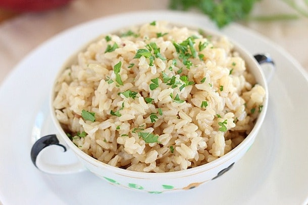 baby food to make in the instant pot: brown rice