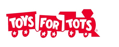 Toys for Tots red train logo