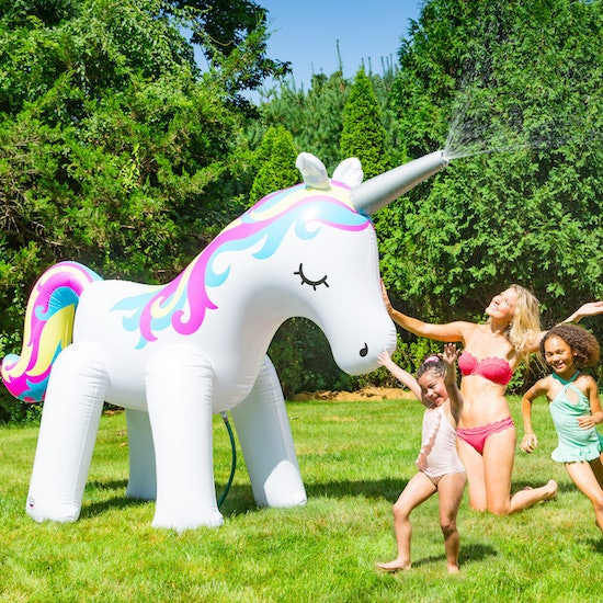 This Ginormous Neon Unicorn Sprinkler Is Here To Make Your
