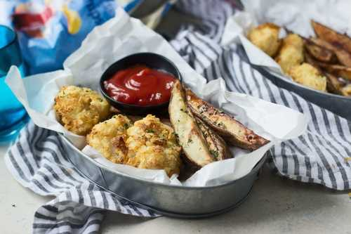 salt and vinegar sheet pan fish and chips