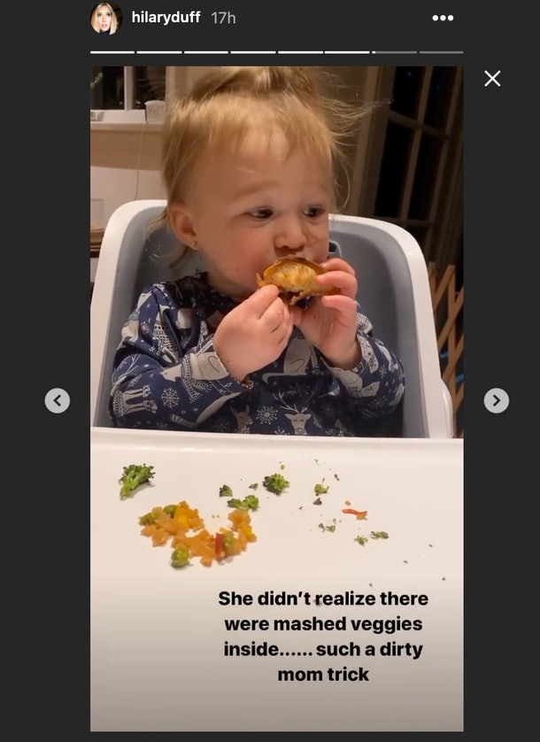Hilary Duff's post about Banks being a picky eater are so relatable.