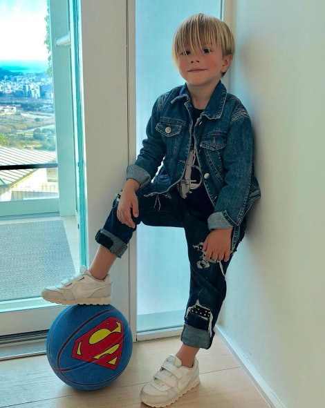 Shakira's son looks like a little fashion model.