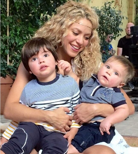 Shakira could not look more in love with her two sons in 2015 if she tried.