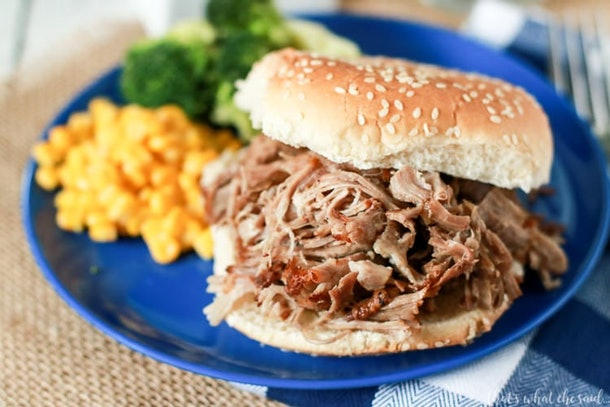 Pulled pork is perfect in the Instant Pot and can be used for so many snacks during your Super Bowl party.