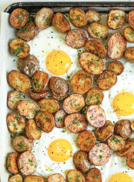 Breakfast potatoes and eggs is a no-brainer