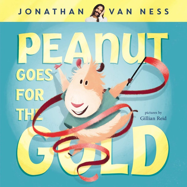 """""""Peanut Goes For Gold is a """"heartfelt picture book that follows the adventures of Peanut, a gender nonbinary guinea pig who does everything with their own personal flare."""""""