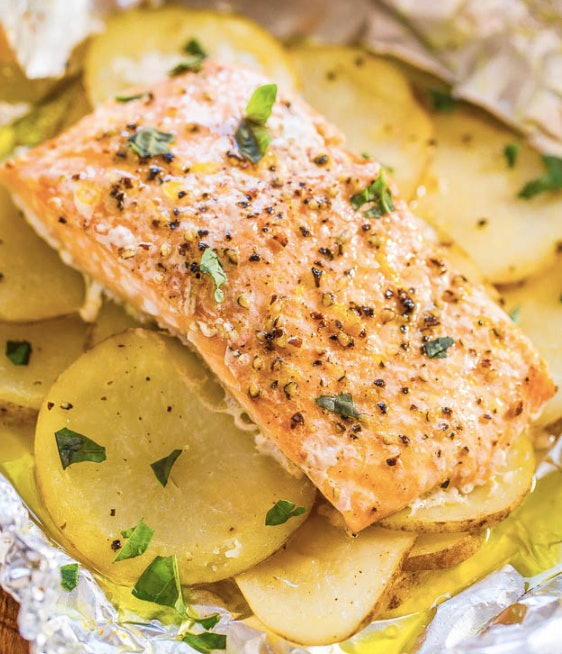 Pack up some lemons, potatoes and salmon and you've got an easy weeknight dinner.