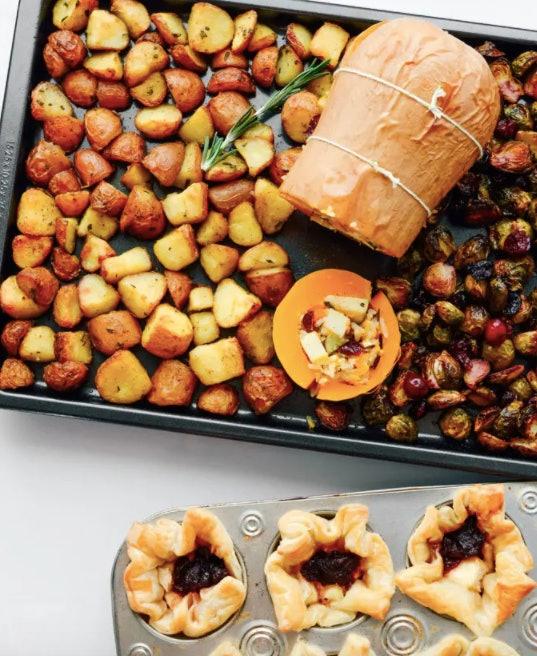 Vegetarian one sheet pan thanksgiving dinner