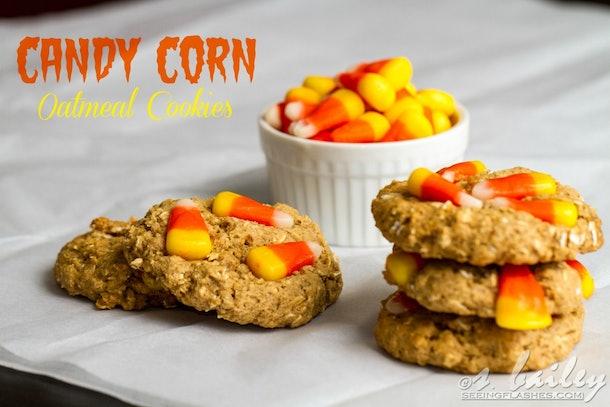Candy Corn Oatmeal Cookies