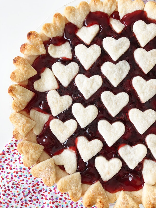 The crust of this Valentine's Day Cherry Pie makes it a Valentine's Day recipe that is completely Pinterest-worthy.