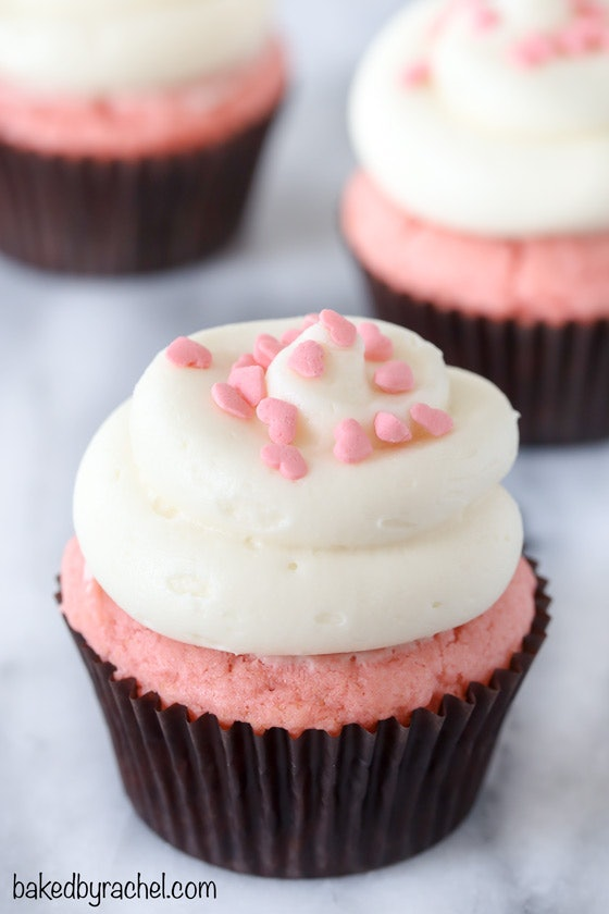 Pink Velvet Cupcakes are an impressive Valentine's Day recipe that is totally Pinterest-worthy.