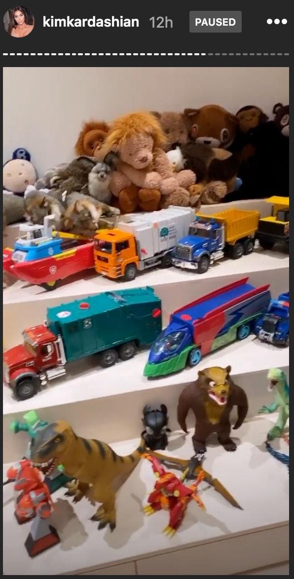 Kim Kardashian's oldest son, Saint, is a fan of action figures, legos, and trucks.