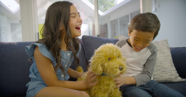 Moji the Loveable Labradoodle will keep your kids laughing and loving on him just like a real dog.