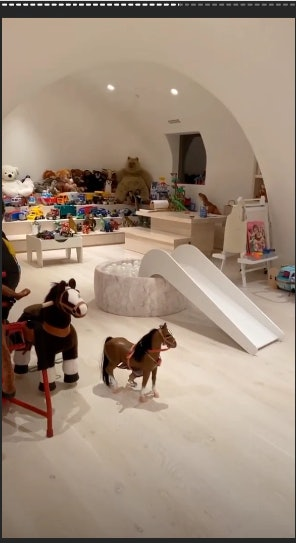Kim Kardashian West's playroom is every child's fantasy.