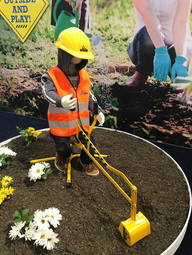 The Big Dig Sandbox Digger Excavator Crane