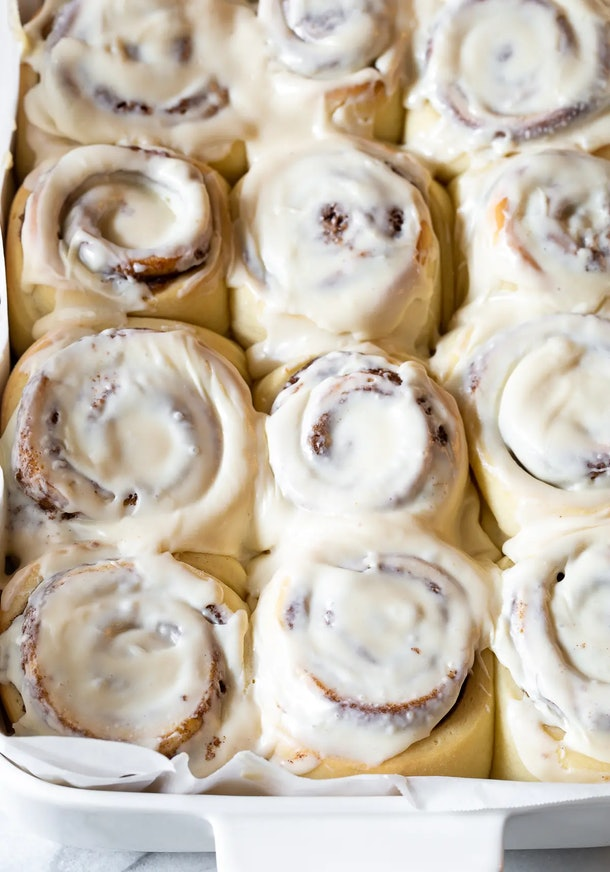 Homemade cinnamon rolls can be time-consuming, but you could make these ahead of time for a sweet Valentine's Day breakfast.