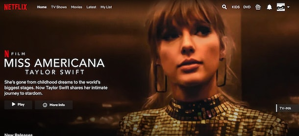Once autoplay is turned off, there are no sounds or movement on Netflix's homepage.