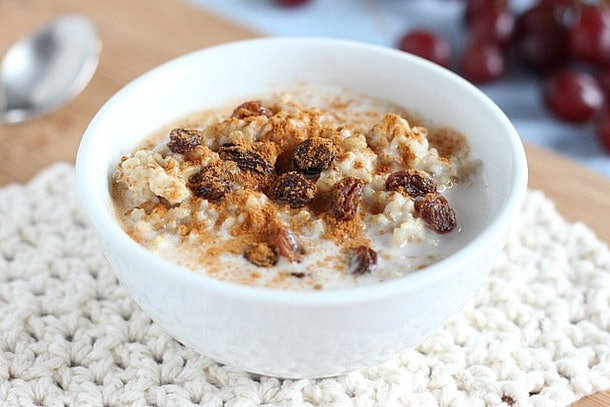 A big, comforting bowl of oats.