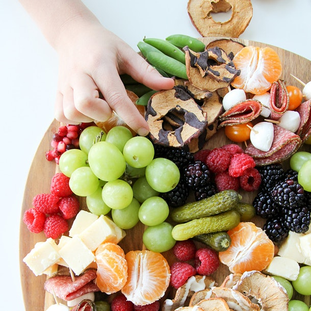 Kid-friendly snack and cheese plate