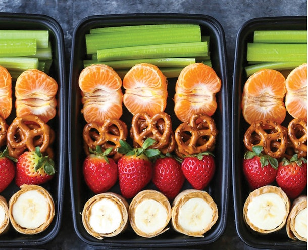 Peanut Butter And Banana Roll Ups Snack Box
