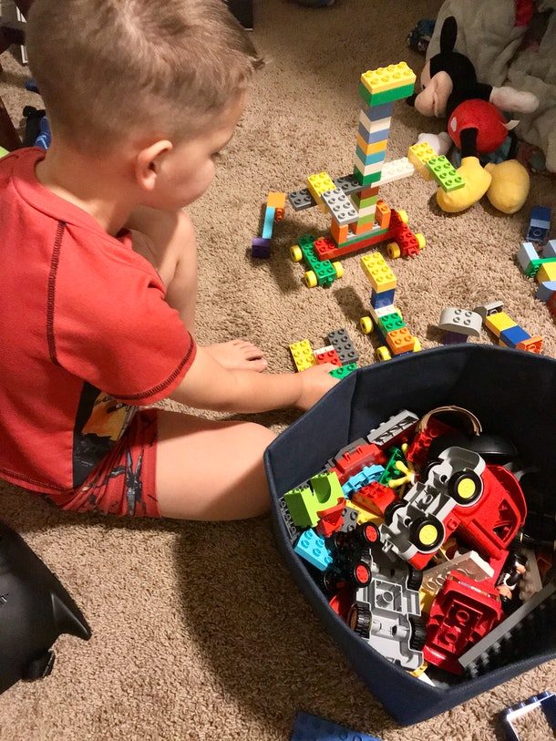 Building LEGOs can help kids entertain themselves during the coronavirus pandemic.