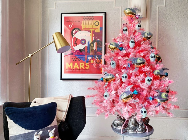 a pink easter tree