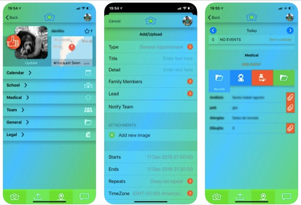 screenshot of Parent Core interface