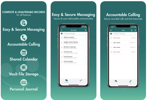 Screenshot of talking parents app interface