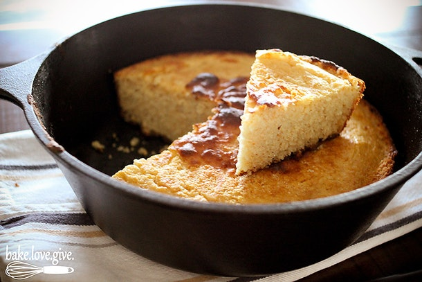 Buttermilk skillet cornbread is one type of bread recipe that can be made without yeast.
