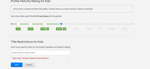 Parents can now block certain shows for their kids on Netflix.