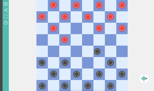 Online Checkers Board