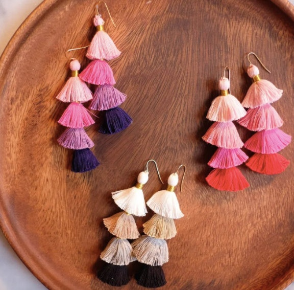 Tassel Earrings is an easy mother's day craft kids can make