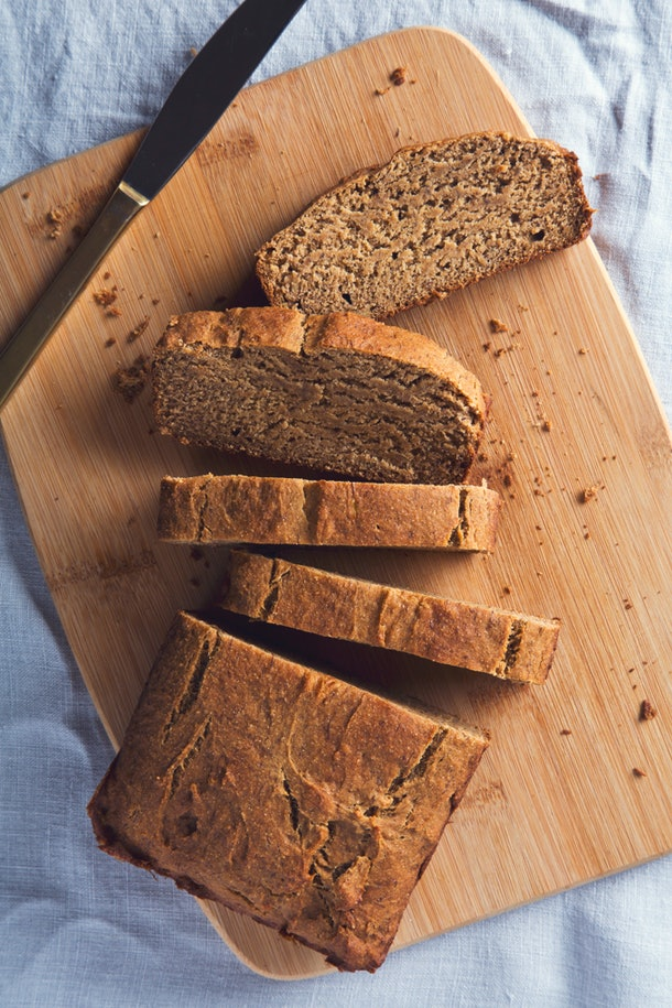 This banana bread recipe is gluten-free and vegan without eggs.