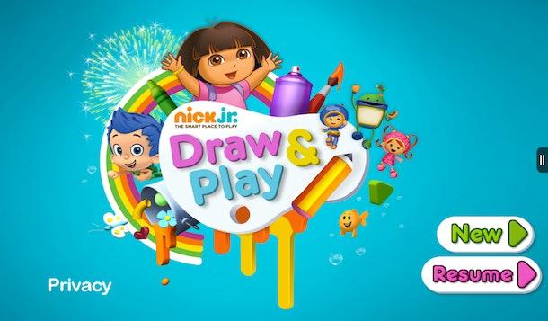 Nick Jr. Draw & Play Kindle app