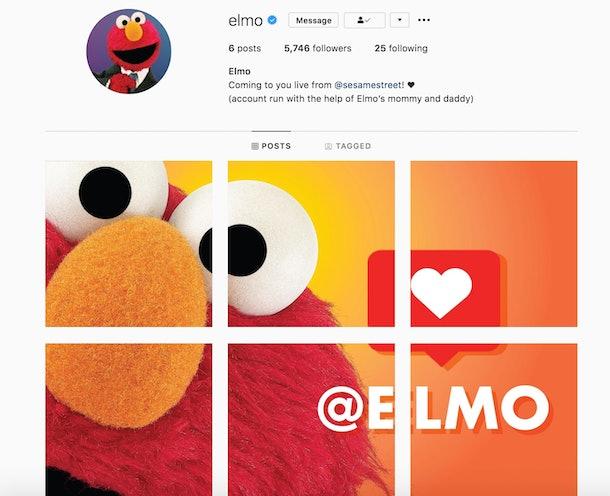 'Sesame Street's Elmo is now a member of Instagram.