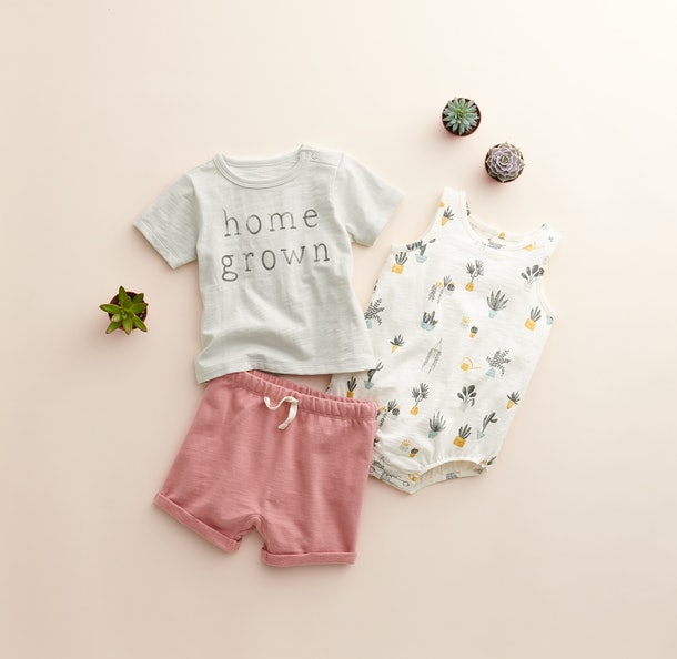 The Little Co. by Lauren Conrad line includes 100% organic cotton tees, too.