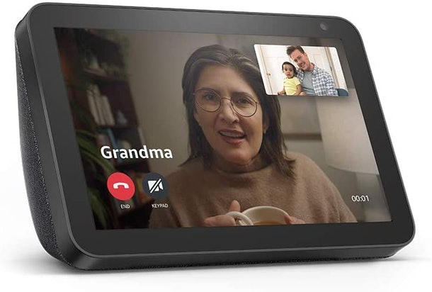 You can send a virtual hug and have video calls with family through Amazon's Alexa and Echo devices.