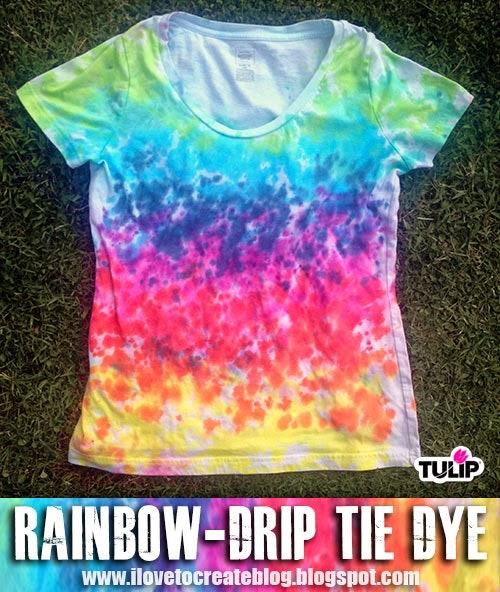 rainbow drip tie dye shirt