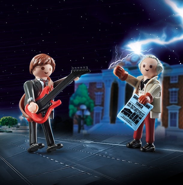 marty mcfly and doc brown playmobil figures