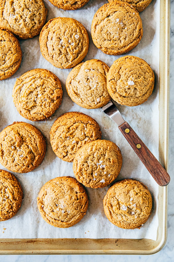 tray of peanut butter cookies