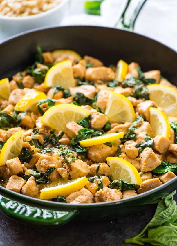 Lemon Basil Chicken is a one-pot meal without pasta that your whole family can enjoy.