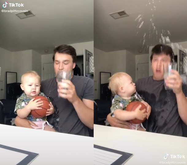 People are now splashing water on babies on TikTok but it has gained mixed reviews.