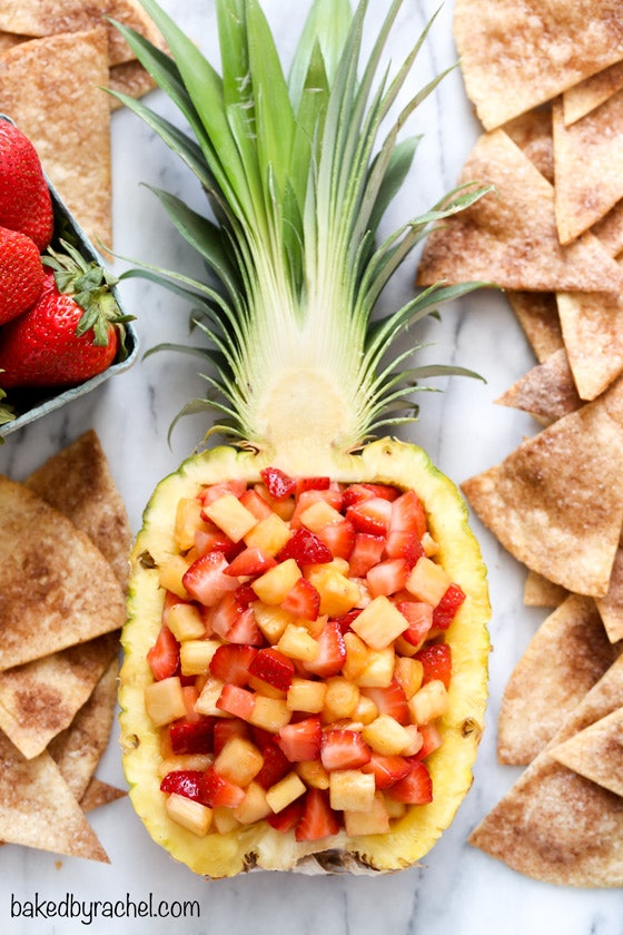Strawberry pineapple fruit salsa is a refreshing summer dip recipe to try.