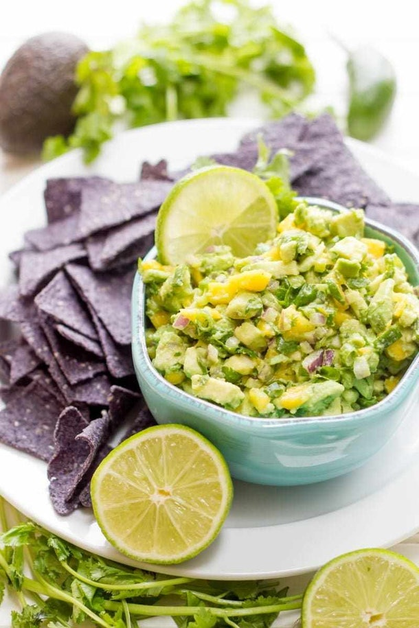 Mango guacamole from Wholefully is a delicious summer dip recipe to make.