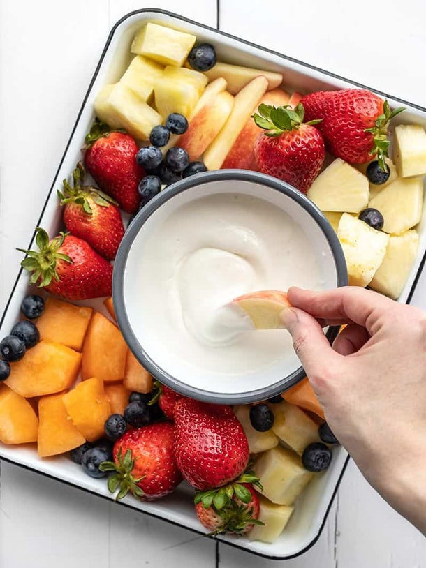 Honey Vanilla Cottage Cheese Fruit Dip is a refreshing summer dip recipe to make.
