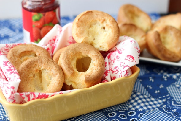 popovers in yellow dish