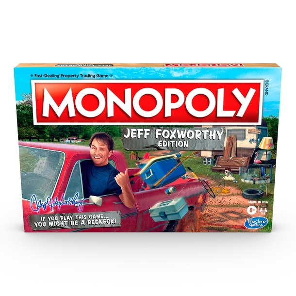 Monopoly Jeff Foxworthy Edition will help make your next family game night hilarious.
