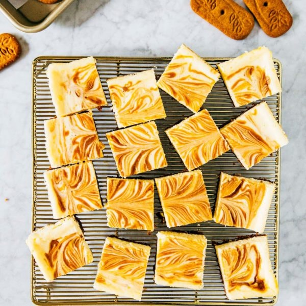 Speculoos Cheesecake Bars