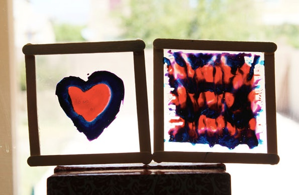 Tie-dye stained glass projects are an easy tie-dye craft to do with your kids.